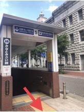みなとみらい線 馬車道駅5番出口から esnoliba関内店への道順のご紹介♪